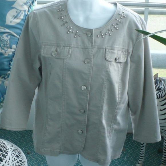 ❤️ Tan Khaki Jacket Hearts Of PalmSize 12